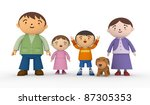 happy family and dog. | Shutterstock . vector #87305353