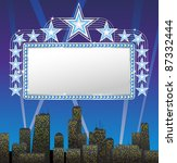 marquee banner with stars  file ... | Shutterstock .eps vector #87332444