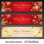 winter theme web banners. | Shutterstock .eps vector #87360806