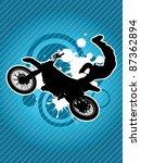 motorcycle and the biker... | Shutterstock . vector #87362894