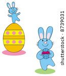 two cartoon style easter... | Shutterstock .eps vector #8739031