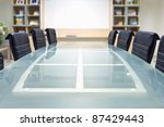 meeting room with glass top... | Shutterstock . vector #87429443