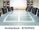 meeting room with glass top... | Shutterstock . vector #87429443