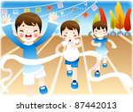 the fall field day | Shutterstock .eps vector #87442013