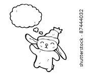 bunny in hat waving   Shutterstock .eps vector #87444032
