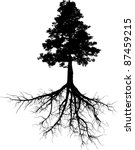 silhouettes of tree with its... | Shutterstock .eps vector #87459215