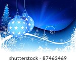 blue christmas composition | Shutterstock . vector #87463469