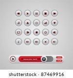 white round media player... | Shutterstock .eps vector #87469916