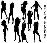 dancing girls   black... | Shutterstock . vector #87492808