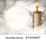 eps 10  vector candle on winter ... | Shutterstock .eps vector #87493897