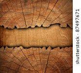 cracked wooden board | Shutterstock . vector #87497671
