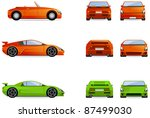sport cars.  set of the car... | Shutterstock .eps vector #87499030