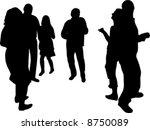 people dancing in disco... | Shutterstock .eps vector #8750089
