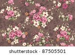 seamless wallpaper vintage rose ... | Shutterstock .eps vector #87505501