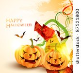 stylish halloween background... | Shutterstock .eps vector #87521800