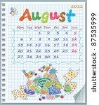 Calendar For August 2012. Week...