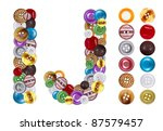 characters i and j made of... | Shutterstock . vector #87579457