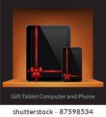 vector tablet computer   mobile ... | Shutterstock .eps vector #87598534