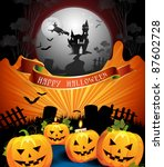 halloween card design | Shutterstock .eps vector #87602728