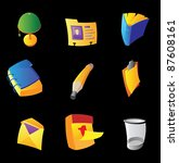 icons for office on black... | Shutterstock .eps vector #87608161