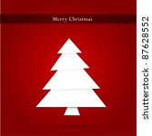 vector christmas tree on red... | Shutterstock .eps vector #87628552