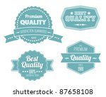 old blue retro vintage labels   ... | Shutterstock .eps vector #87658108