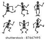 skeletons dancing | Shutterstock .eps vector #87667495