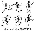 skeletons dancing | Shutterstock .eps vector #87667495