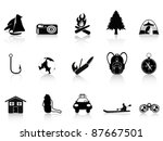 black outdoors and camping icon   Shutterstock .eps vector #87667501