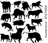Bull Silhouette Collection