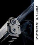 automatic handgun that has... | Shutterstock . vector #87678865