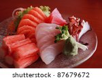 Japanese raw fish - stock photo