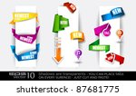 paper and origami style tags...   Shutterstock .eps vector #87681775