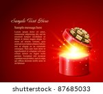 open gift with fireworks from... | Shutterstock .eps vector #87685033