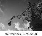 vintage street lantern in...   Shutterstock . vector #87685180