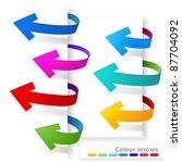 collection of colour arrows   Shutterstock .eps vector #87704092