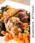 lamb shank slow cooked with... | Shutterstock . vector #87716161