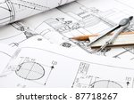 indastrial drawing detail and... | Shutterstock . vector #87718267