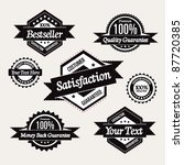 retro high quality labels... | Shutterstock .eps vector #87720385