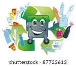 used plastic packing gladly... | Shutterstock .eps vector #87723613