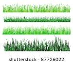 green grass and field elements... | Shutterstock .eps vector #87726022