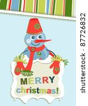 template christmas greeting... | Shutterstock .eps vector #87726832