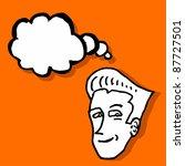creative comic draw of head... | Shutterstock .eps vector #87727501