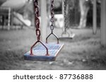 Swings  Children's Playground.