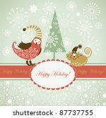 christmas and new year's card | Shutterstock .eps vector #87737755