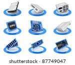 parts computer icon  blue... | Shutterstock . vector #87749047