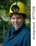 Miner woman - stock photo