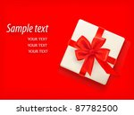 red background with gift box... | Shutterstock .eps vector #87782500