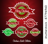 christmas labels collection | Shutterstock .eps vector #87796960