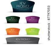 stylized glossy web label... | Shutterstock .eps vector #87797053